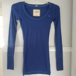 Abercrombie & fitch blue long sleeved shirt